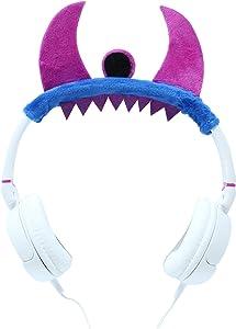 Gabba Goods Premium Plush Design Monster Over The Ear Comfort Padded Stereo Headphones AUX Cable | Earphones