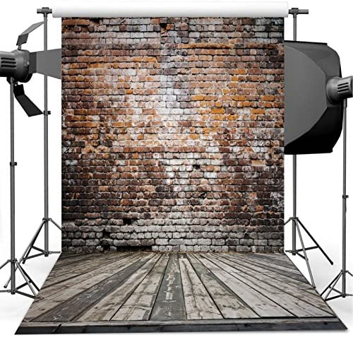 Rustic 10x15 FT Backdrop Photographers,Rusty Old Door of Red Brick Wall House Dirty Doorway Front Exist Retro Textured Art Photo Background for Party Home Decor Outdoorsy Theme Vinyl Shoot Props Gree