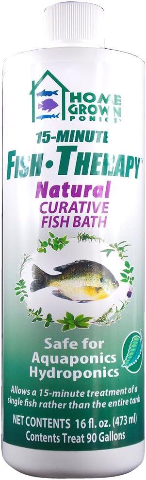 HOME GROWN PONICS Fish Therapy #96016 Natural Curative Fish Bath, 16 oz.
