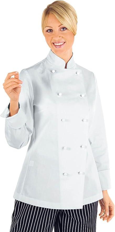 Isacco - Chaqueta de cocinero para mujer, 100% algodón, color ...
