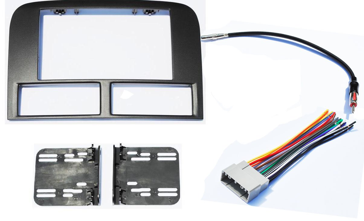 Jeep Grand Cherokee WJ 2002-2004 Double Din Aftermarket Radio Stereo Navigation Bezel by CIP