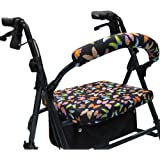 Crutcheze Butterfly Rollator Walker Seat and Backrest Covers Designer Fashion Accessories Made in USA