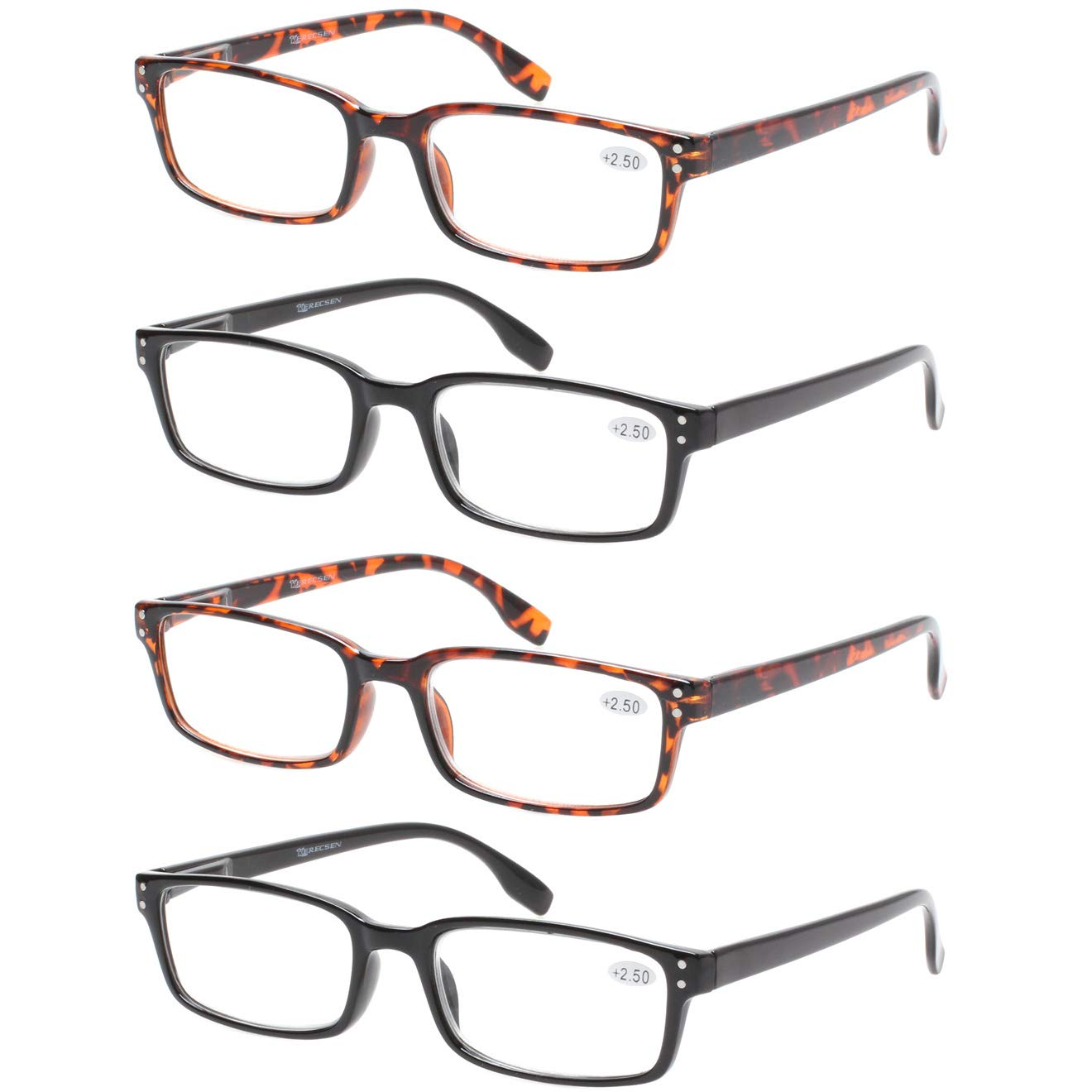 0621ae7a450 READING GLASSES 4 Pack Spring Hinge Comfort Readers Plastic Includes Sun  Readers product image