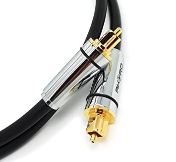 AKORD 0.5 m Gold Plated High Resolution Professional Digital Optical Audio Cable by AKORD