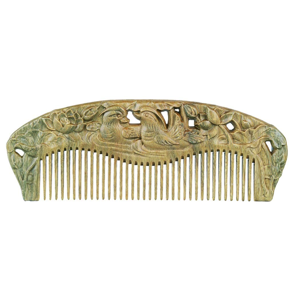 Comb Mother's Day Green Sandalwood Wood Natural Massage Anti-Static Hair Care by Comb