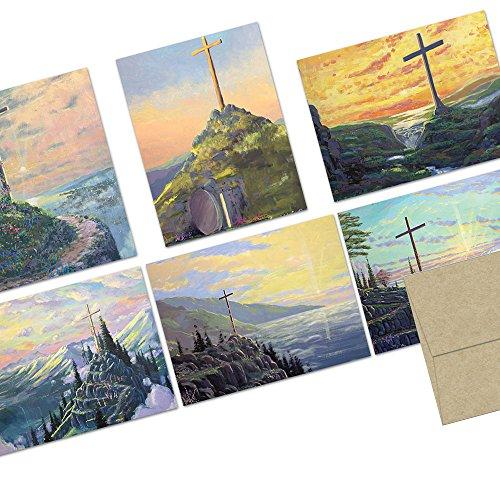 Painted Crosses - 36 Note Cards - Blank Cards - Kraft Envelopes - Cross Blank