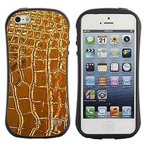 """Hypernova Slim Fit Dual Barniz Protector Caso Case Funda Para Apple iPhone SE / iPhone 5 / iPhone 5S [De cuero de lujo del cocodrilo de lujo""""]"""