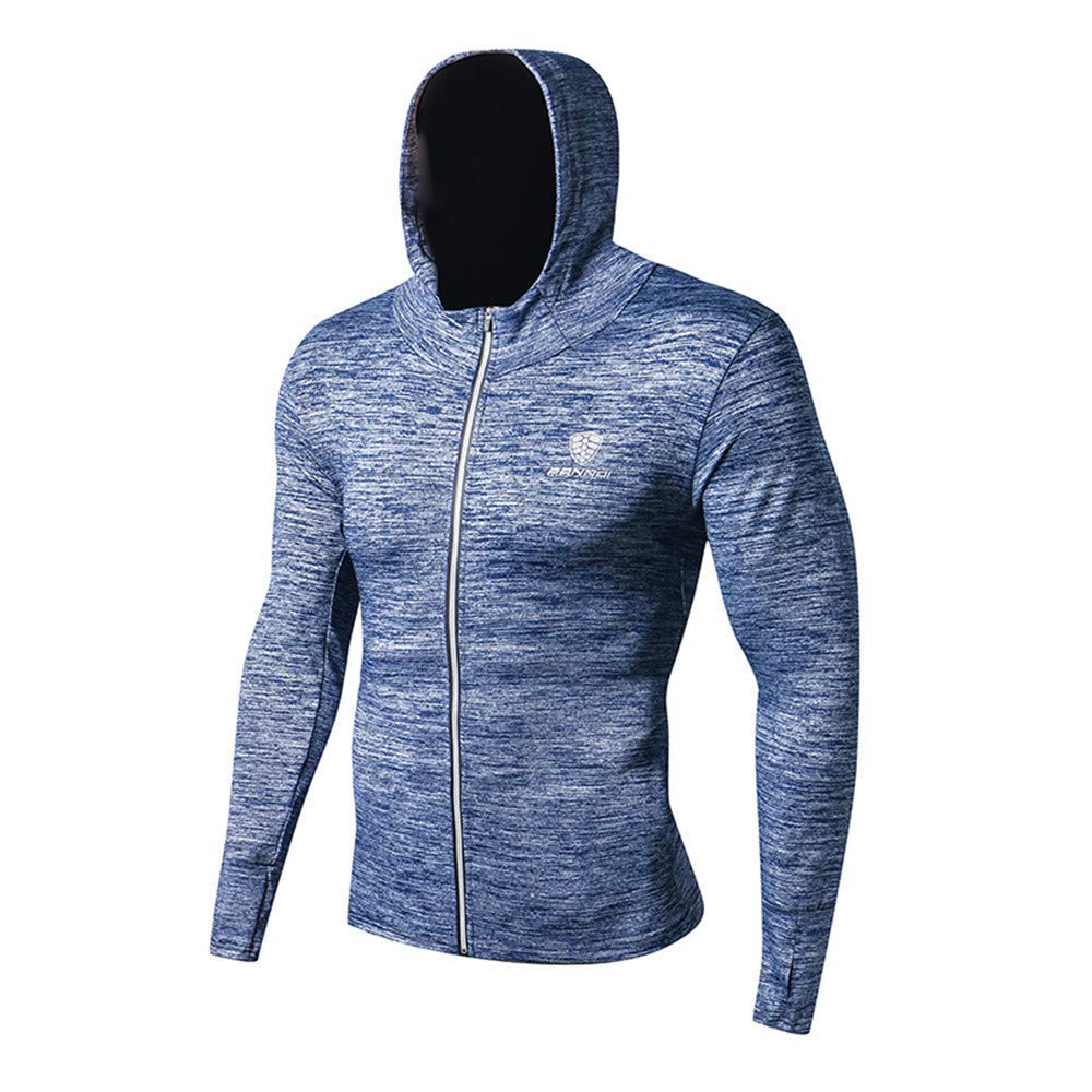 56c500e96fec Sports Long-Sleeve Tights Wear Fitness Running Training Zipper Casual Hooded  Tights