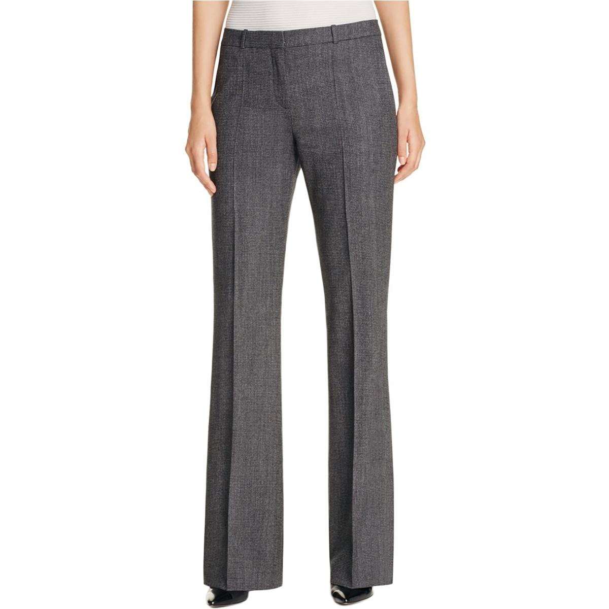 BOSS Hugo Boss Womens Tusini Virgin Wool Stretch Bootcut Pants Black 6 by Hugo Boss