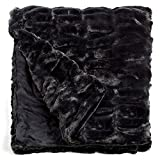 Fabulous Furs: Faux Fur Luxury Throw Blanket, Onyx Mink, Available in generous sizes 60''x60'', 60''x72'' and 60''x86'', by Donna Salyers