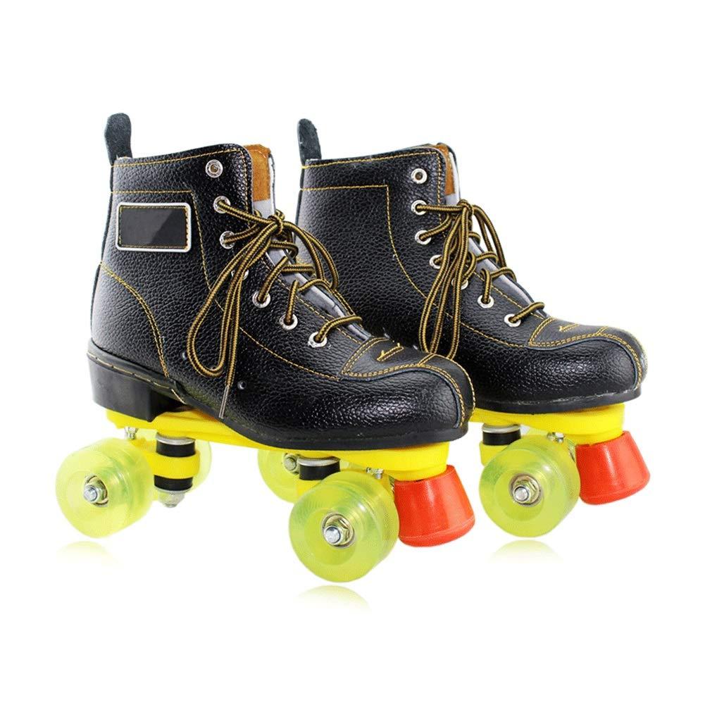 Sljj 屋外大人のクワッドスケート、照明の車輪と女の子のローラースケートを (Color : B, Size : 36 EU) B 36 EU