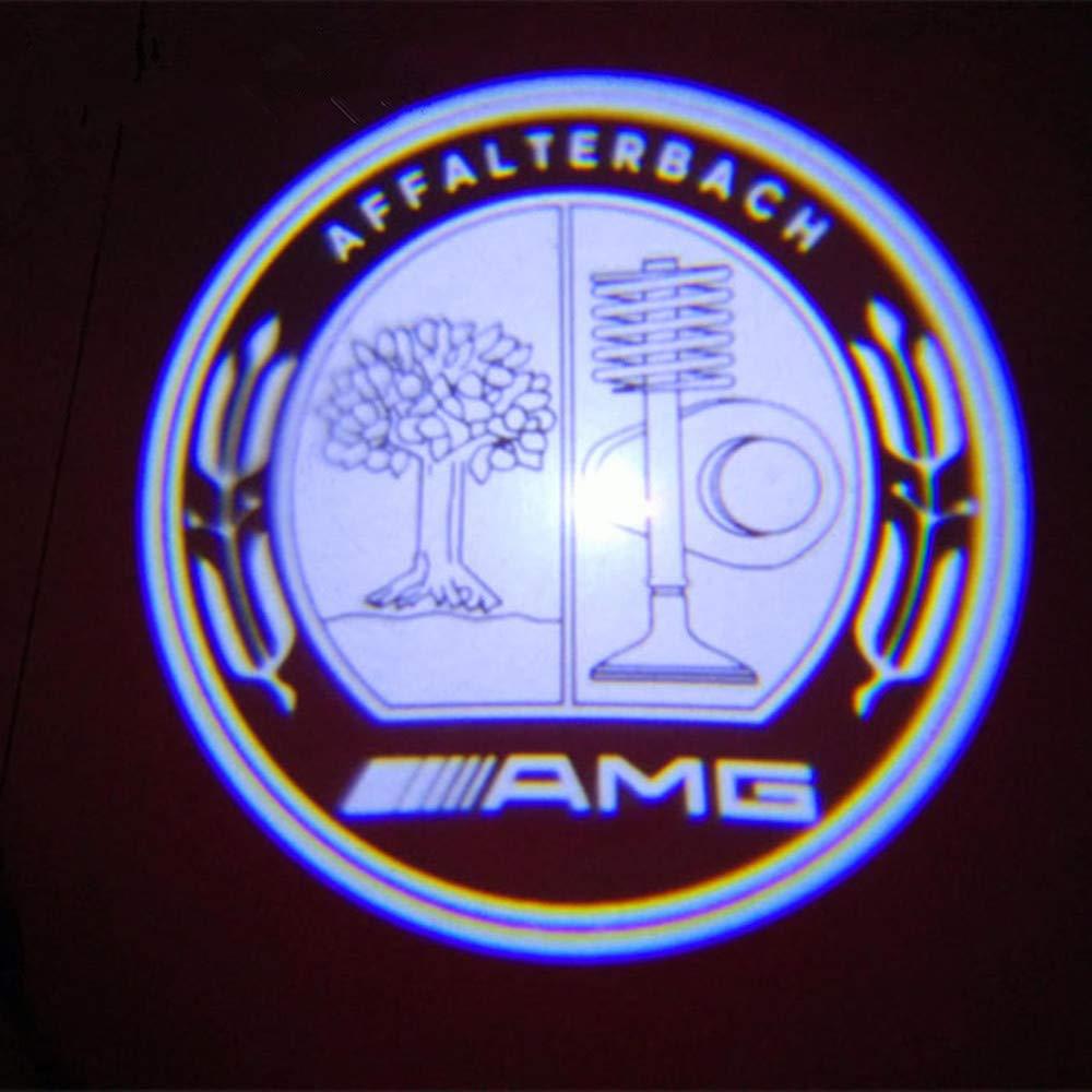 BENZ E AMG XIUJINGHONG 2 PCS Car Shadow Light,Car Ghost Shadow Light,Welcome Projector Lamp,3D Logo Light