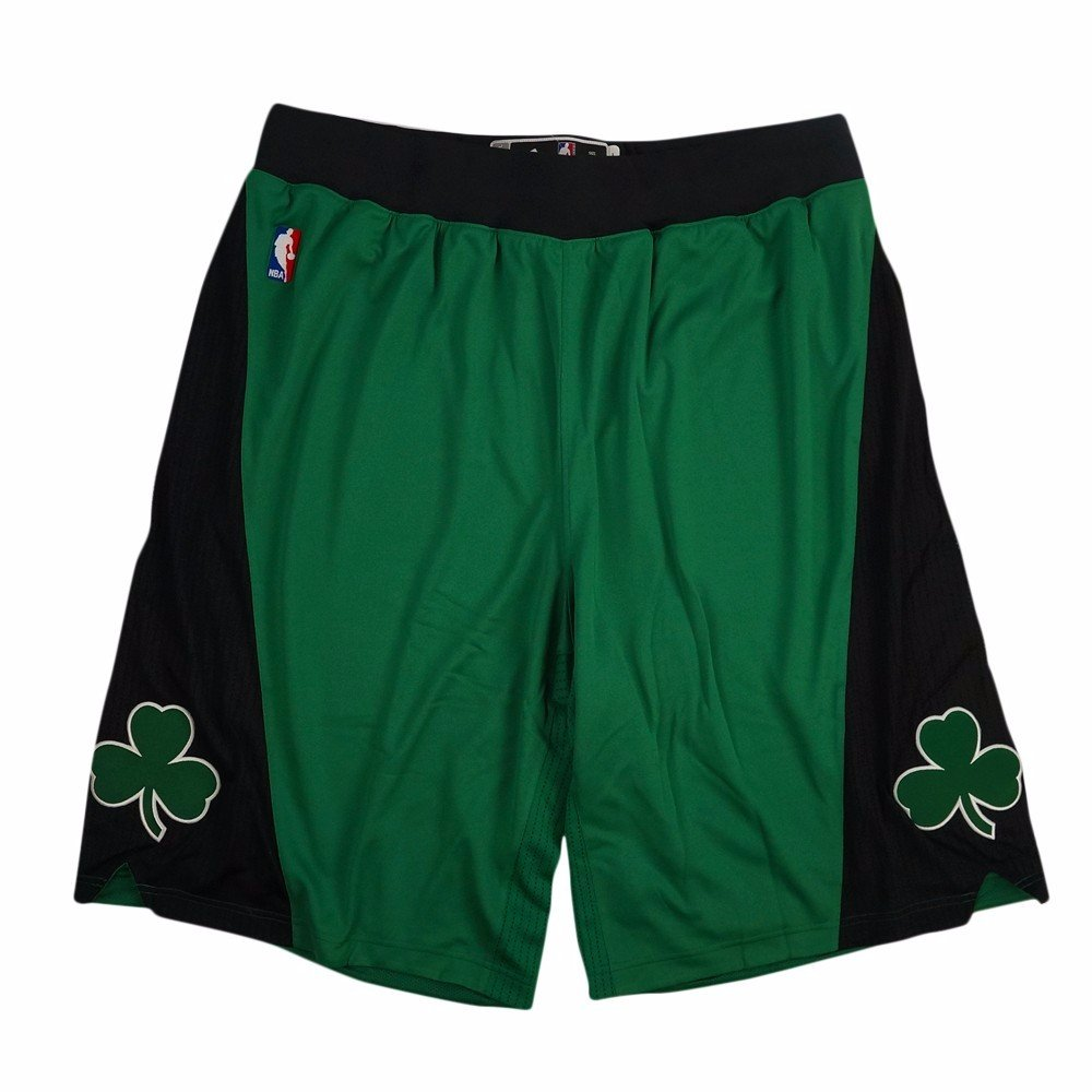 adidas Boston Celtics NBA Green Authentic On-Court Climacool Team Game Shorts for Men (4XLT2)