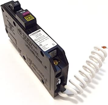 Circuit Breaker Square D by Schneider Electric QO QO115PDF Plug-In Mount 15 Amp Single-Pole Dual Function CAFCI and GFCI