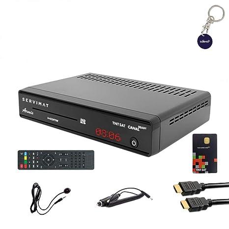 SERVIMAT armis decodificador satélite HD + tarjeta TNTSAT + ...