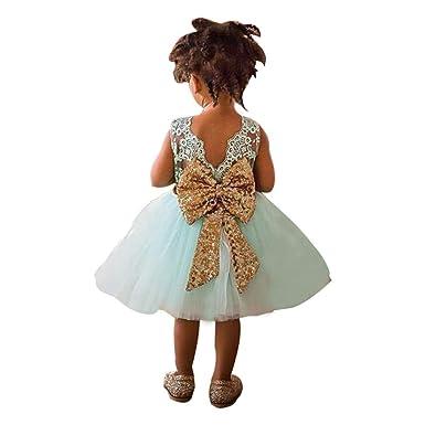 OVERDOSE Overdose Kinderbaby Mädchen Sequins Boknot Kleid Ballkleid ...