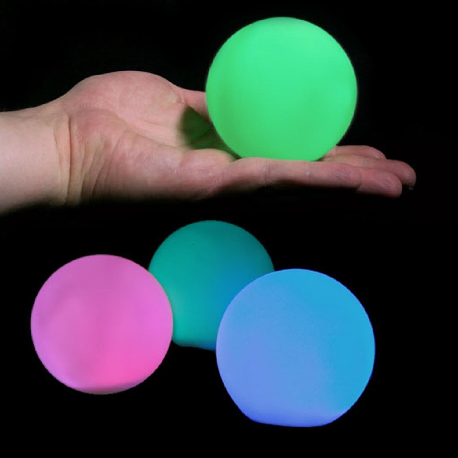 LED Ball Light 3-inch Rechargeable Mood Lights Multicolor Changing Indoor/Outdoor Lamp (Pack of 6) - Great Gift for Bday Parties, Holiday Home Decor