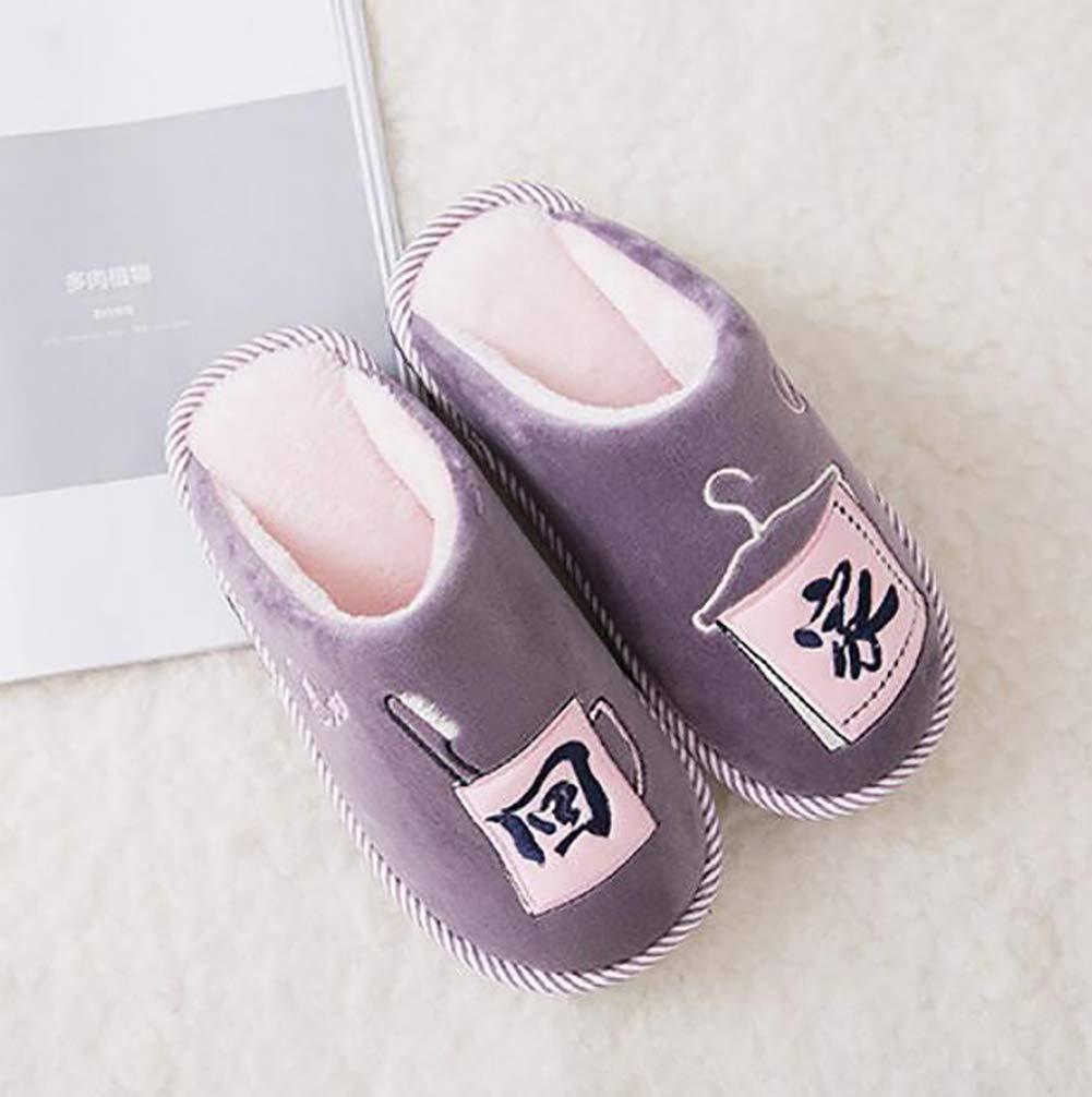 SHANGXIAN Suave Felpa Algodón Pantuflas Zapatos Antideslizante Piso Interior Casa Pantuflas Mujer Zapatos para Dormitorio,B,36/37: Amazon.es: Hogar
