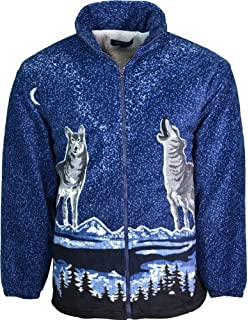 52017d971 WOLF WOLVES FLEECE JACKET NEW HOODED FLEECED FUR LINED THERMAL ...
