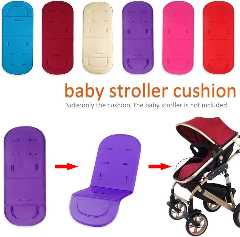 Summer Universal Pushchair Liner Baby Stroller Seat Cushion Pad Breathable Insert Liner Newborn Toddler Baby Seat Liner for Pushchair Pram Stroller Buggy Car Seat Kind popchilli Cool Baby Seat Liner