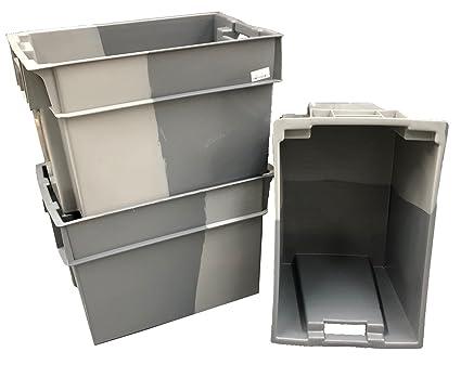 20 x 70 L gris de profundidad caja de plástico caja de almacenamiento contenedor de 180º