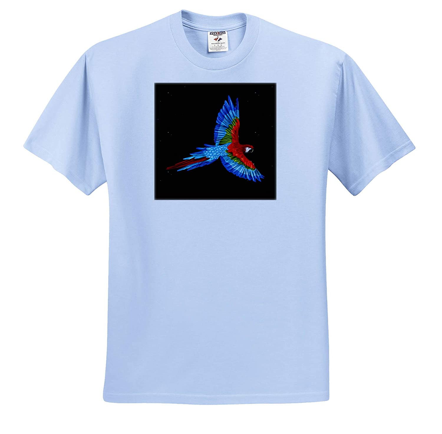 T-Shirts 3dRose Sven Herkenrath Bird Colouful Illustration Design of a Exotic Tropical Parrot Bird