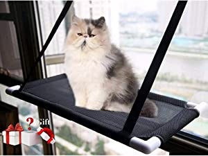 David City Cat Window Perch, Cat Window Hammock, Cat Hammock, Quality Upgrades, Saving Space, Carrying 35 Pounds, Allowing Your Cat to Enjoy 360-Degree Sunbathing.