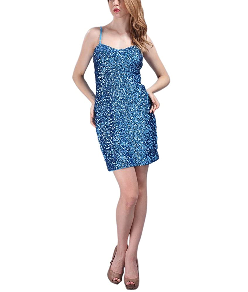 0105fb4db070a Top4  Whitewed Short Womens Sparkly Bandeau Sequin Paillettes Bodycon Vegas  Dresses