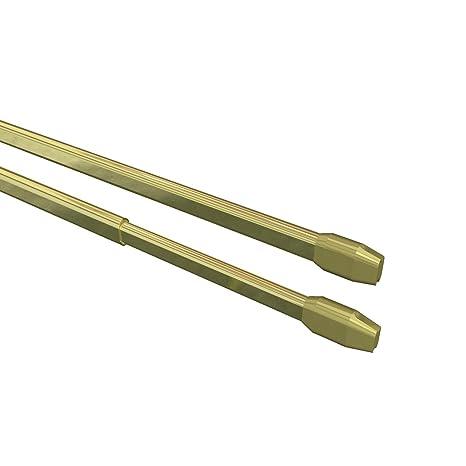 INTERDECO Vitragestangen mit Klebehaken//Scheibenstangen Wei/ß 4 St/ück ausziehbar 30-50 cm