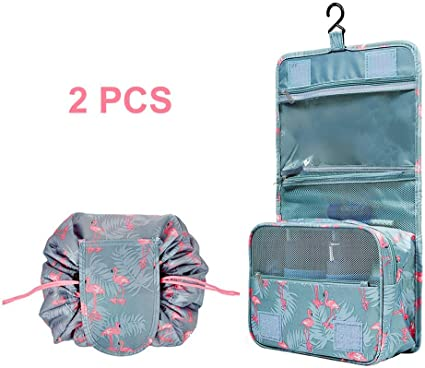 Bolsa de cosméticos portátil con gancho bolsa de maquillaje organizador de viaje bolsas de aseo impermeables para mujer bolsa de aseo de alta calidad
