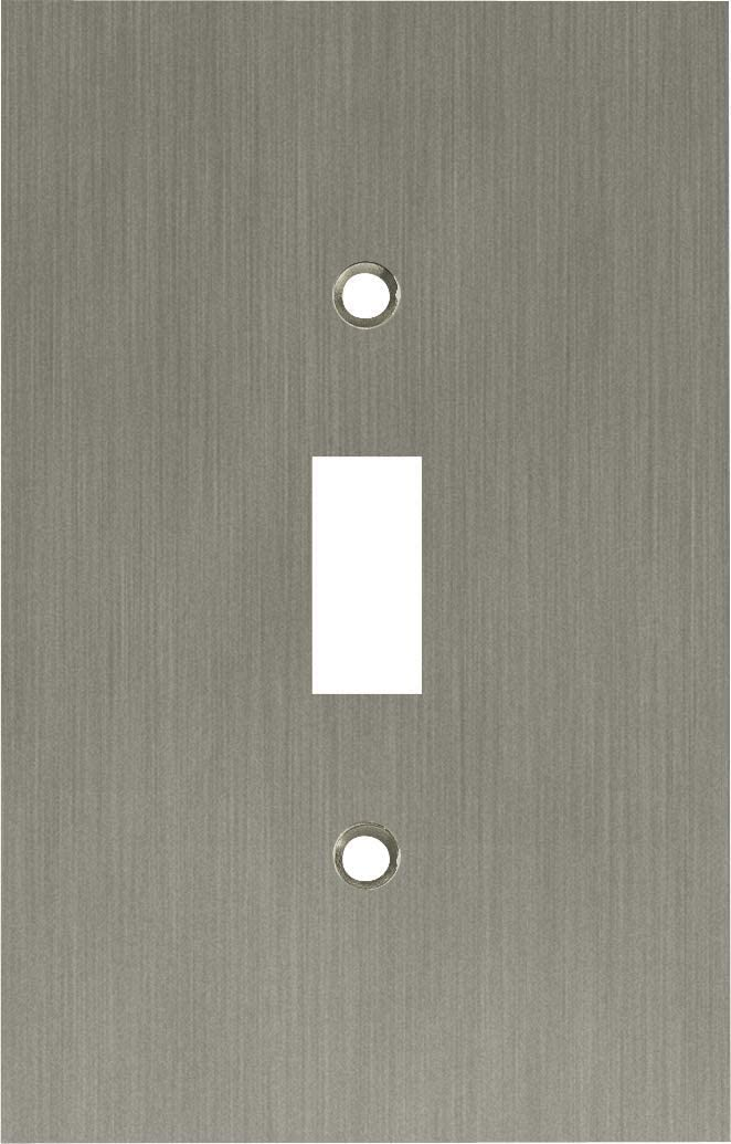 Franklin Brass 64932 Concave Single Toggle Switch Wall Plate / Switch Plate / Cover, Satin Nickel
