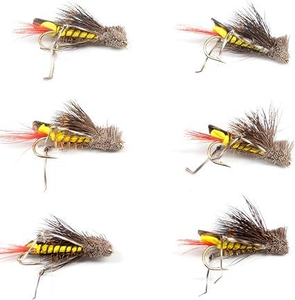 Yellow Foam Grasshopper American Terrestrial Dry Flies Still Water River Trout