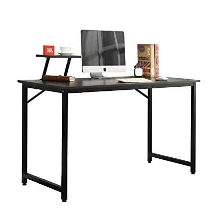 Fabulous Soges Computer Desk 47Inches Pc Desk Office Desk Workstation For Home Office Use Writing Table Black Jk120 Bk Ca Download Free Architecture Designs Ferenbritishbridgeorg