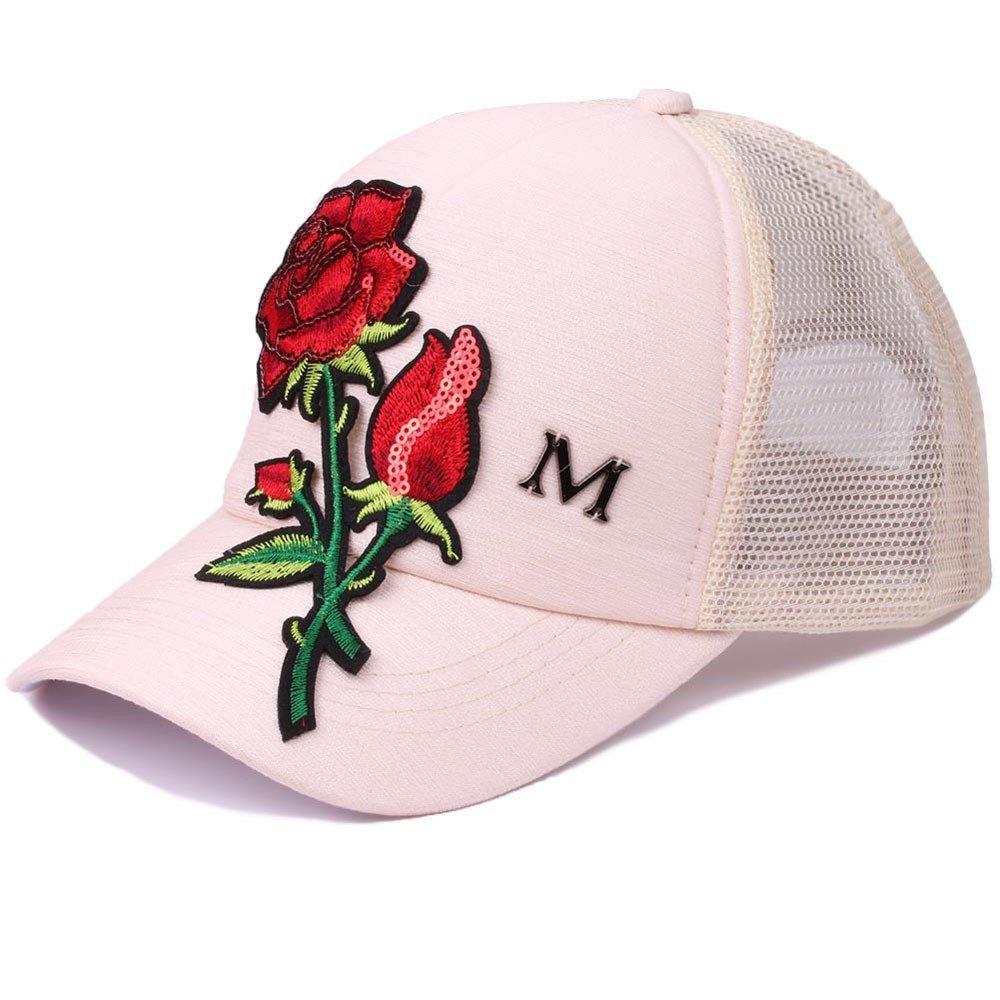 e905d40ffa9e55 JYJMMänner Frauen Hut Modetrend Rose Blume Pailletten Einstellbare Mesh Baseball  Cap Unisex Baseball Kappen, Baseball Mützen für Draussen, Sport oder auf ...