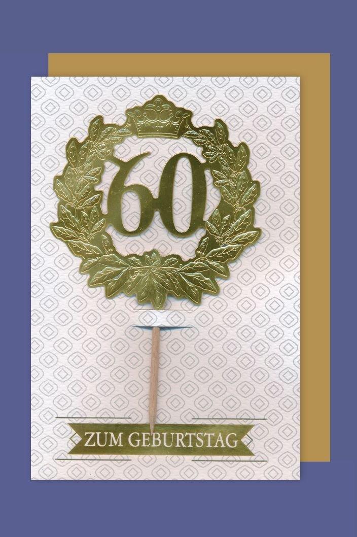 Tarjeta de cumpleaños 60 tarjeta de felicitación Prunus ...