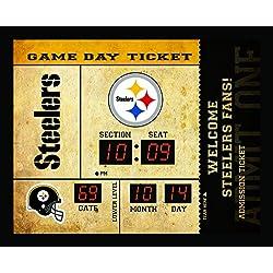 Team Sports America Pittsburgh Steelers Bluetooth Scoreboard Wall Clock