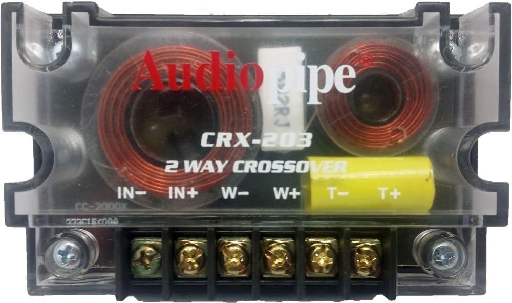 300 Watts 2 Way Crossover - (2 Pack) Passive Car Audio Speaker Tweeter Mids and Highs CRX-203