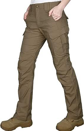 HARD LAND Pantalones Tácticos para Mujer Pantalones Cargo Elásticos Pantalones BDU Ripstop Resistentes Al Agua Senderismo Lligero