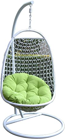 Amazon.com: Mimbre Rattan Swing cama silla weaved Egg Shape ...