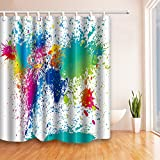paint colors for small bathrooms NYMB Colorful Abstract Paint Inkjet 69X70 inches Mildew Resistant Polyester Fabric Shower Curtain Set Fantastic Decorations Bath Curtain