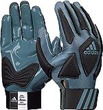 adidas Scorch Destroyer Full Finger Lineman's Gloves, Gray/Black, X-Large