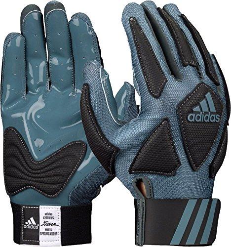 Lineman Glove - adidas Scorch Destroyer Full Finger Lineman's Gloves, Gray/Black, X-Large