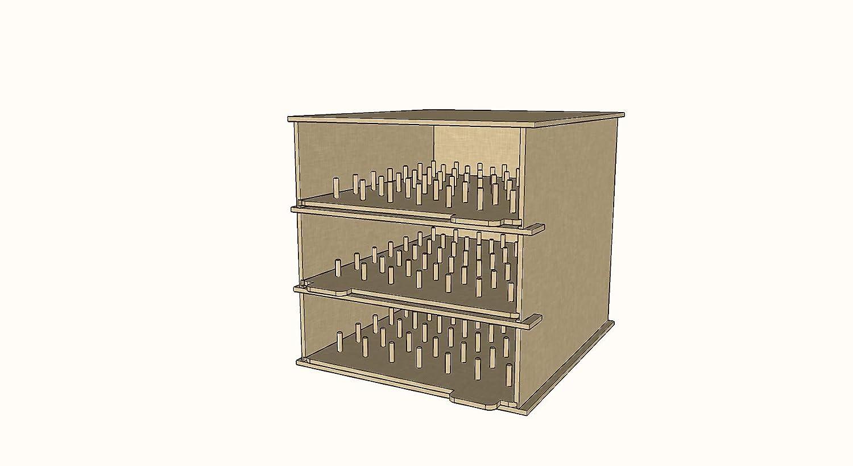 147 Bobbin Holder for IKEA Kallax Units 3 Tier