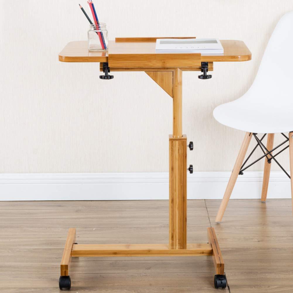 HYXL Legno Tavolino Servitore per Pazienti Allettati,Pigro Comodino Scrivania da Tavolo Portatile per Divano Letto Scrivania per Laptop Rolling Tavolino Pieghevole-b