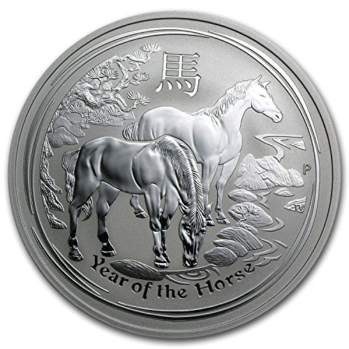 2014 AU Australia 2 oz Silver Lunar Horse (SII) Silver Brilliant - Buy Online Australia