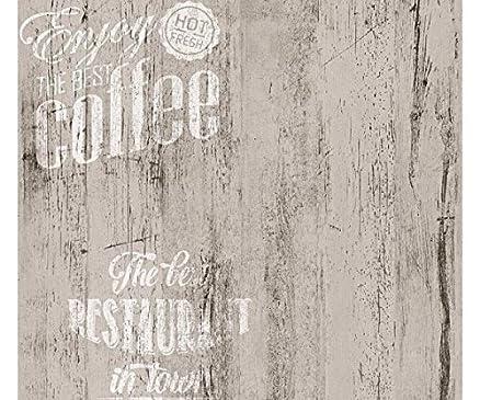 Carta da parati Cucina | Caffè Legno White - supporto in Carta ...