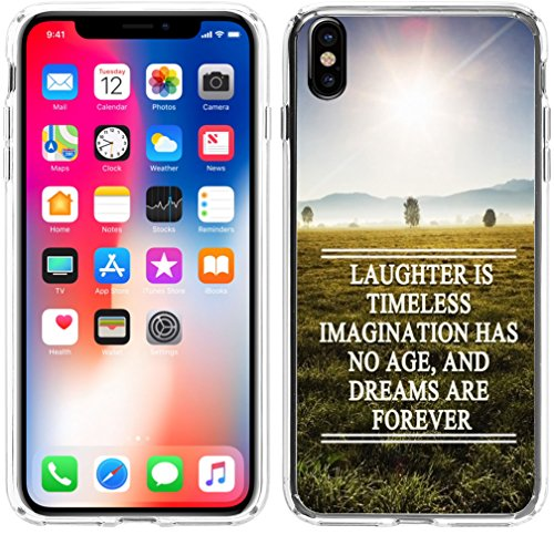 Case For Iphone X Quotes Motivational,Hungo Compatible Soft Tpu Silicone Protective Cover Case Replacement For Iphone X/10 Quotes Motivational Sayings Song Lyrics Song Lyrics Laughter (Lyric Sleeve)