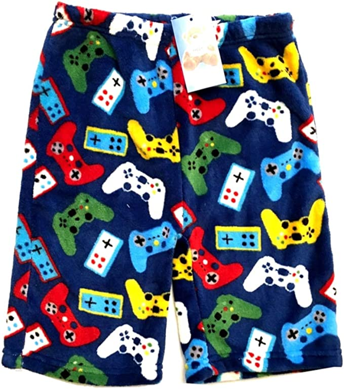 Confetti and Friends Boys Fuzzy Plush Pajama Shorts from 5//6 to 10//12