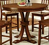 Cheap Furniture of America Castile Transitional Pub Table, Dark Oak