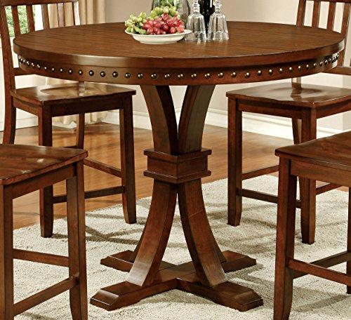 Cheap Furniture of America Castile Transitional Pub Table, Dark Oak
